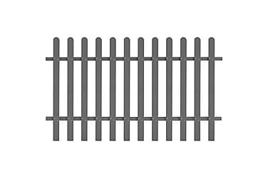 Staket i WPC 200x120 cm grå