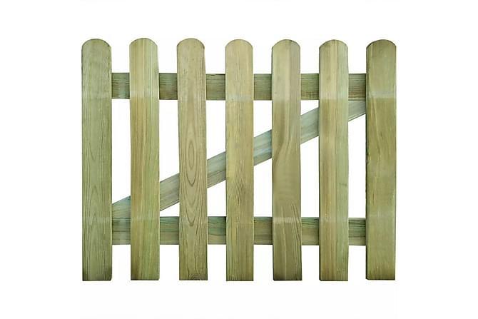 Trädgårdsgrind 100x80 cm FSC-trä - Trädgård - Trädgårdsdekoration & utemiljö - Staket & grindar