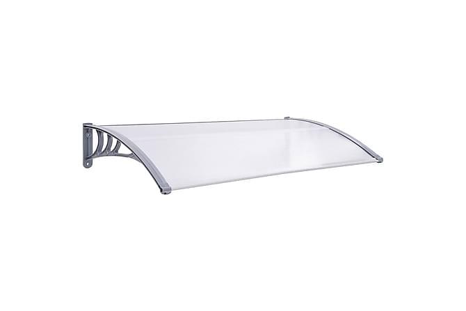 Entrétak grå och transparent 150x80 cm PC - Transparent - Trädgård - Trädgårdsdekoration & utemiljö - Tak