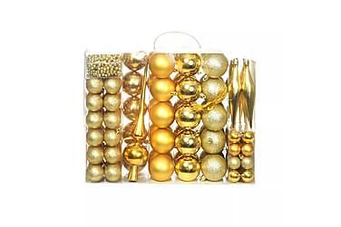 Julgranskulor 113 delar set 6 cm guld