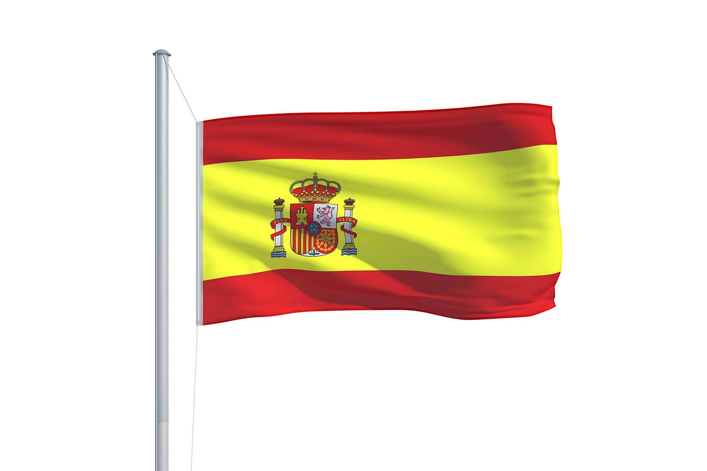 Spaniens Flagga 90x150 Cm Flerfargad Trademax