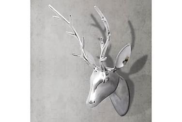 Väggdekoration hjorthuvud silver 62 cm