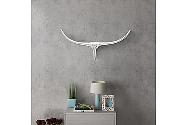 Väggmonterad Tjurhuvud dekoration Silver 72 cm