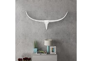Väggmonterad Tjurhuvud dekoration Silver 96 cm