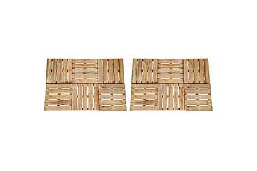 Altantrall 12 st 50x50 cm FSC-trä brun