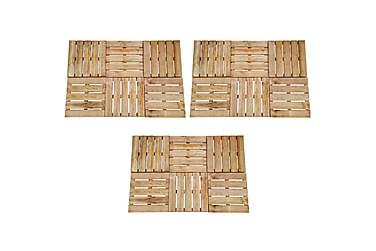 Altantrall 18 st 50x50 cm FSC-trä brun