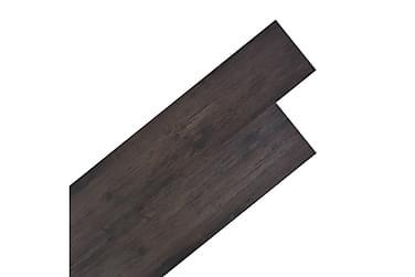 Golvbrädor i PVC 5,26 m² mörkgrå ek