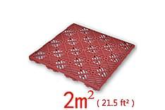 Golvplattor röd 29x29 cm 24 pack