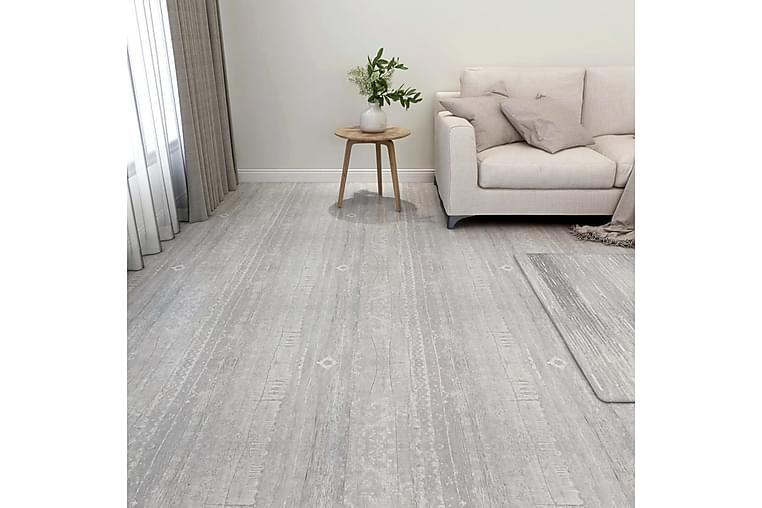Självhäftande golvplankor 55 st PVC 5,11 m² grå - Grå - Trädgård - Trädgårdsdekoration & utemiljö - Trall