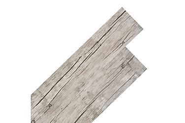 Självhäftande PVC-golvplankor 5,02 m² ekfärgad