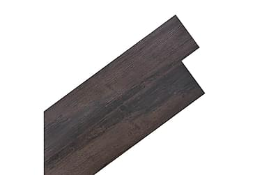 Självhäftande PVC-golvplankor 5,02 m² mörkgrå ek