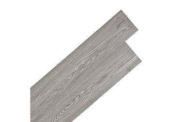 Självhäftande PVC-golvplankor 5,02 m² mörkgrå
