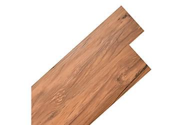 Självhäftande PVC-golvplankor 5,02 m² naturlig alm