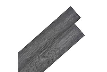 Självhäftande PVC-golvplankor 5,02 m² svart och vit