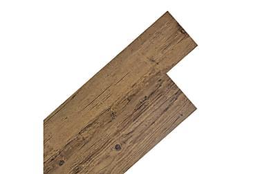 Självhäftande PVC-golvplankor 5,02 m² valnötsbrun