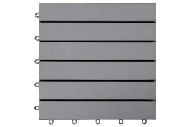 Trall 10 st grå 30x30 cm massivt akaciaträ - Grå - Trädgård - Trädgårdsdekoration & utemiljö - Trall