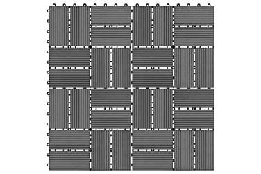 Trall 11 st WPC 30x30 cm 1 kvm grå