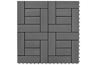 Trall 22 st 30x30 cm 2 kvm WPC grå