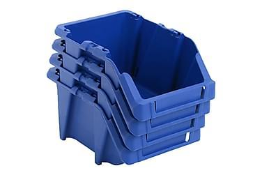 Förvaringsbackar 75 st stapelbara 153x244x123 mm blå