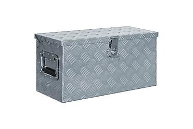 Förvaringslåda aluminium 61,5x26,5x30 cm silver