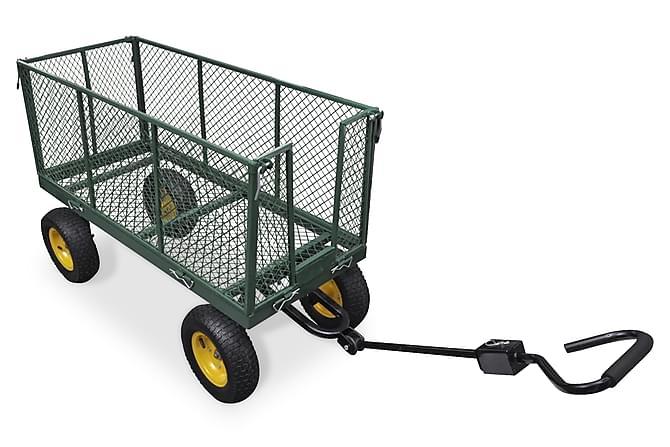 Högre trädgårdsvagn, klarar 350 kg - Grön Svart - Trädgård - Utomhusförvaring - Garageinredning & garageförvaring