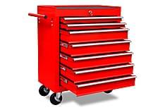 Verktygsvagn 7 lådor röd