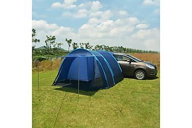 Campingtält 390x330x195 cm blå