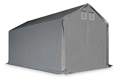 Förvaringstält PVC 5x10 m grå