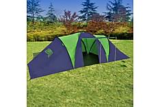 Tält för 9 personer blå och grön