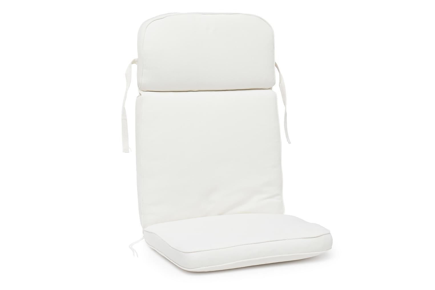 MILAN Box-pehmuste Korkea Valkoinen