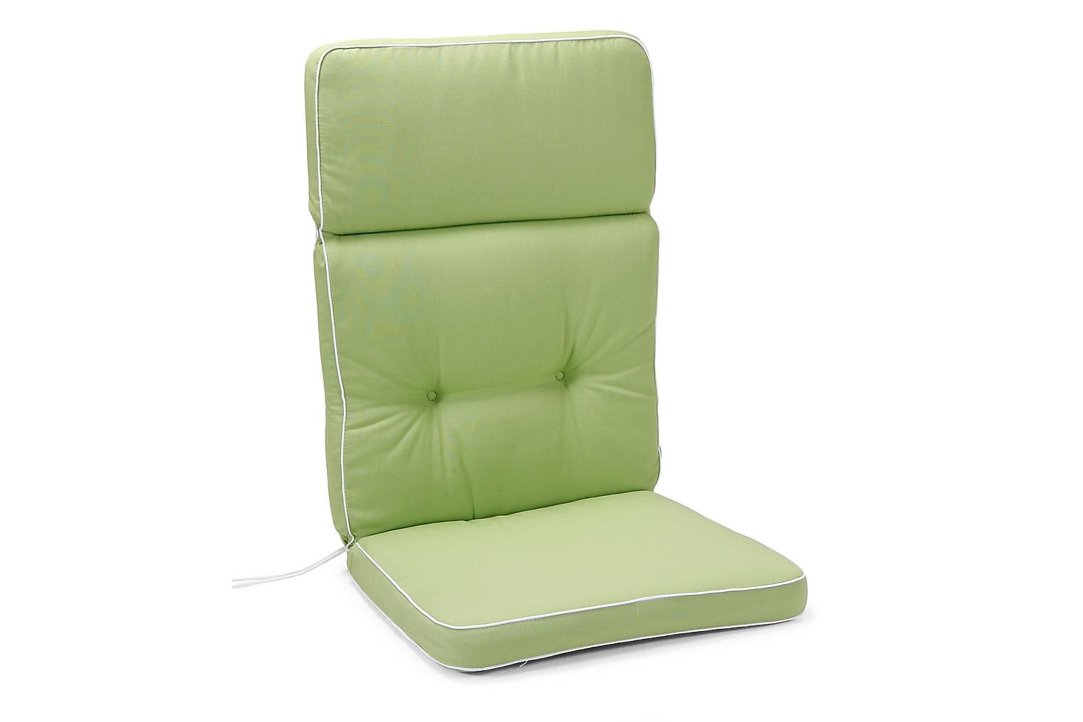 MILAN Box-Pehmuste Korkea Vihreä/valkoinen
