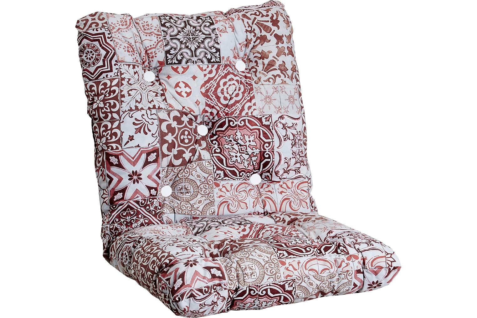 ERIKSLUND Minivik Nojatuolin pehmuste Punainen/valkoinen