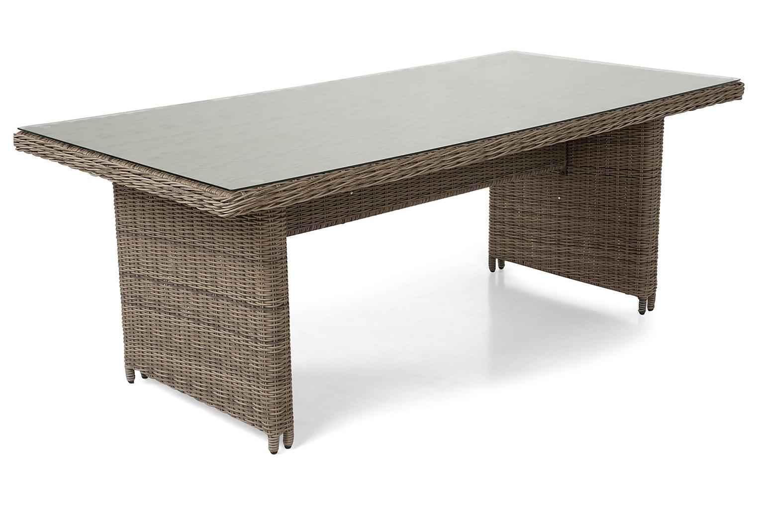 HALLARYD Pöytä 200 Lasi/Harmaanruskea
