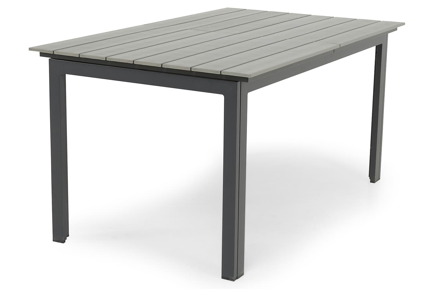 IDAHO Jatkettava Pöytä 152 Harmaa/Musta