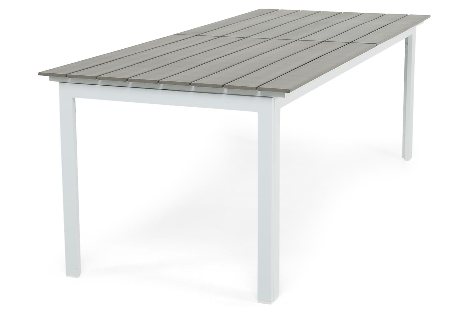 IDAHO Jatkettava Pöytä 220 Harmaa/valkoinen