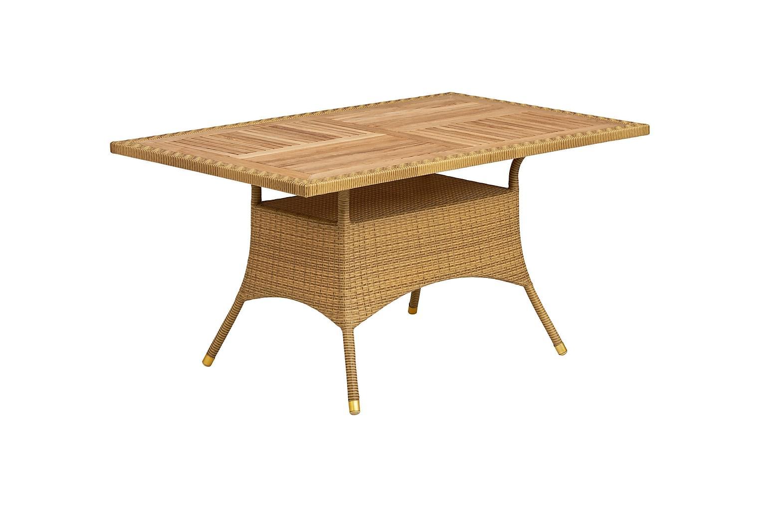 LÄRBRO Pöytä 150 Tiikki/Luonnonväri