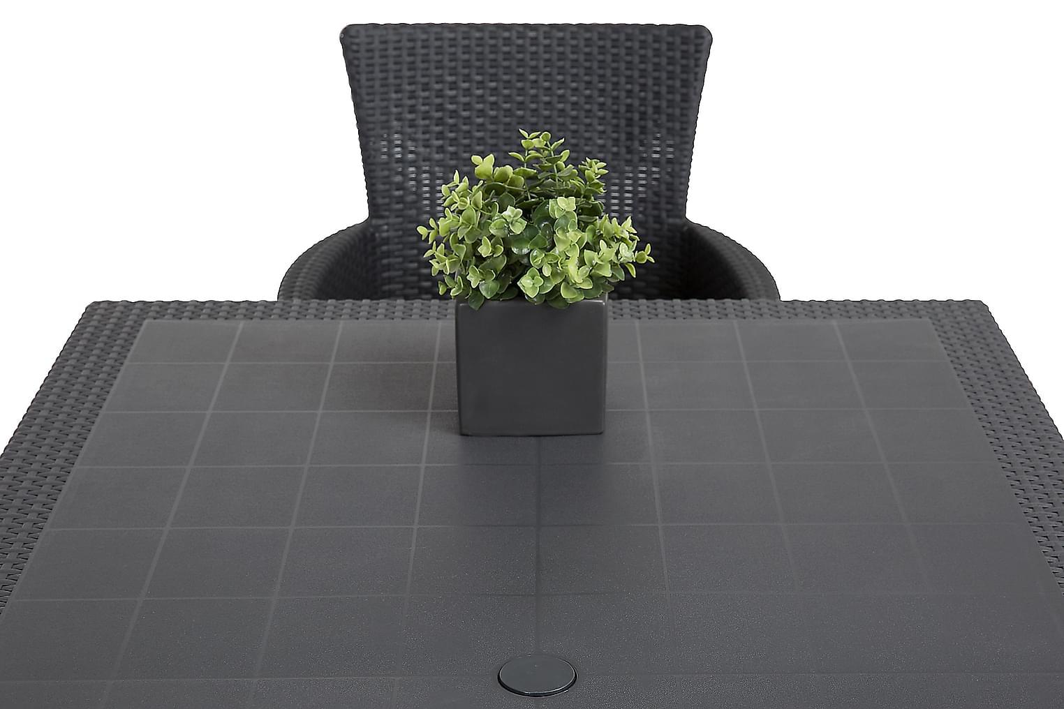 FARGO Pöytä 160 + 6 YORKTON Nojatuolia
