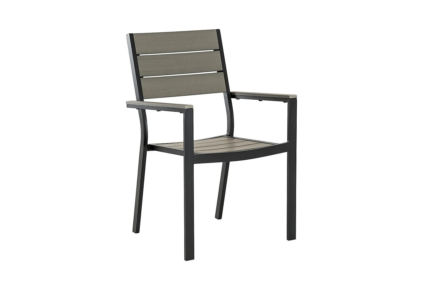 LAPAZ Pinottava tuoli 6-pakkaus Musta/Harmaa - Pakettihinta