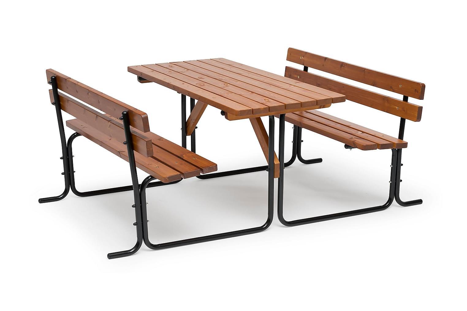 PICNIC Pöytä Teräsrungolla 70x150 Ruskea