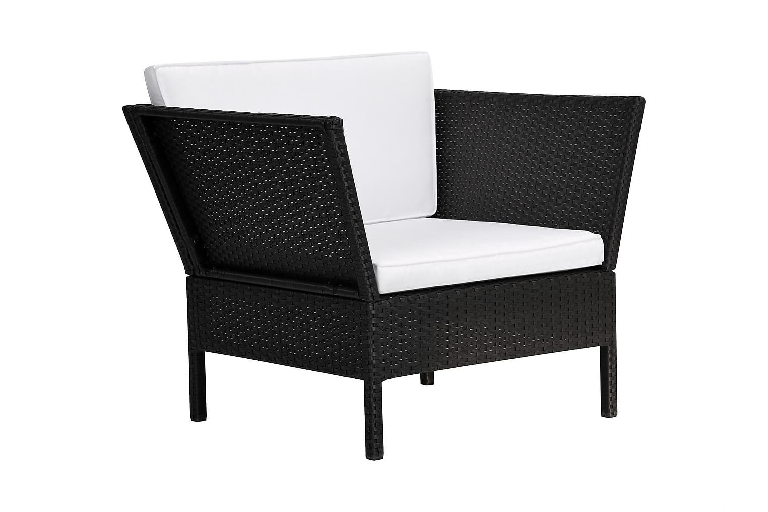 BAHAMA Nojatuoli Musta/Valkoinen