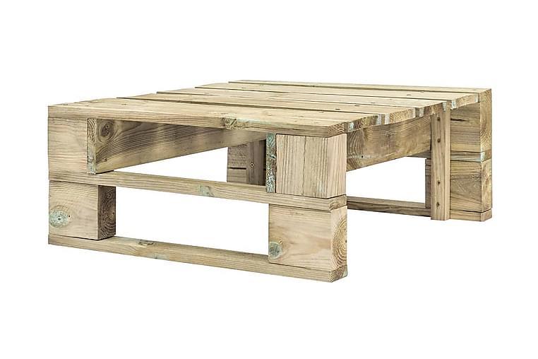 Pallottoman för trädgården trä - Brun - Utemöbler - Balkongmöbler - Balkongstolar