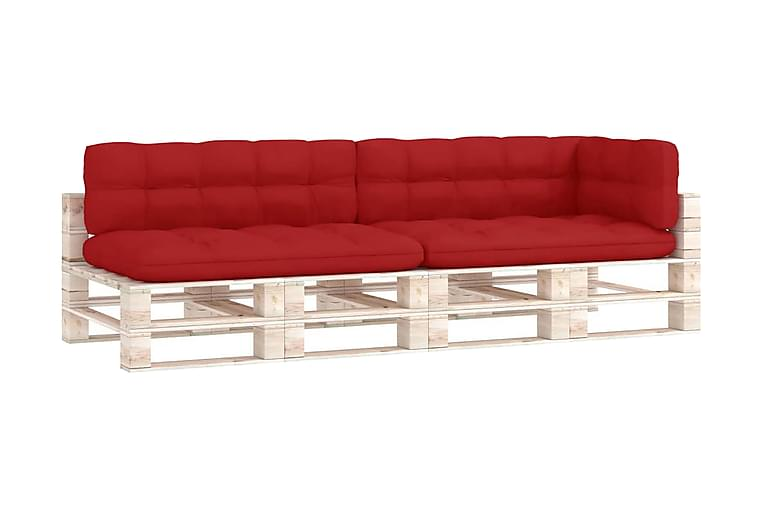 Dynor till pallsoffa 5 st röd - Röd - Utemöbler - Dynor - Soffdynor & bänkdynor