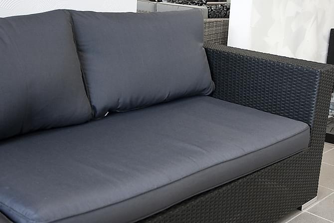 Klädsel Grå: Melbourne Hörn - Komplett klädselpaket - Utemöbler - Loungemöbler - Klädselpaket