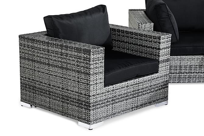 Bahamas Loungegrupp 4-sits - Grå Bord Fåtölj - Utemöbler - Loungemöbler - Loungegrupper