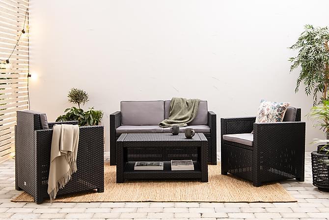 Castell Soffgrupp - Svart - Utemöbler - Loungemöbler - Loungegrupper