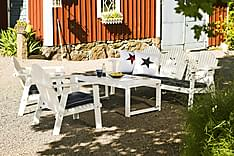 Hillerstorp Gotland Soffgrupp Bord+Bullerö Soffa+2 Fåtöljer