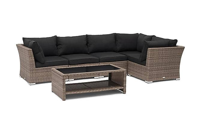 Hillerstorp Wisconsin Loungegrupp 5-sits - Sand Bord - Utemöbler - Loungemöbler - Loungegrupper