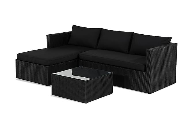 Mendoza Soffgrupp - Svart/Mörkgrå - Utemöbler - Loungemöbler - Loungegrupper
