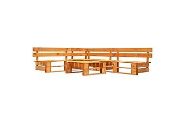 Pallsoffa 4 delar FSC-trä honungsbrun