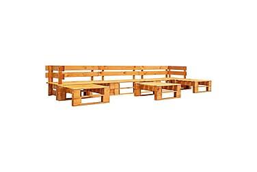 Pallsoffa 6 delar FSC-trä honungsbrun